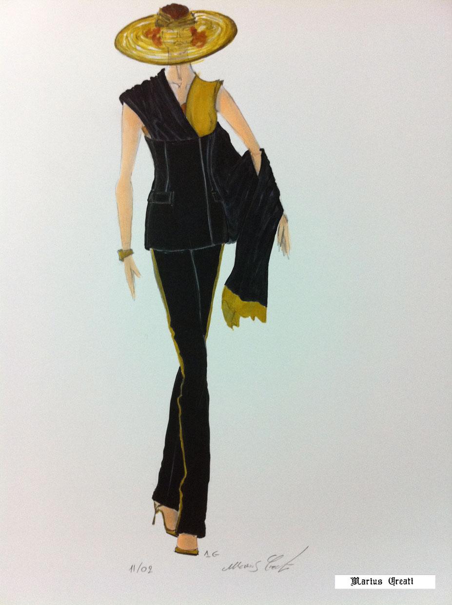 Molto Fashion Couture e Seduzione, disegni di moda di Marius Creati  CL86