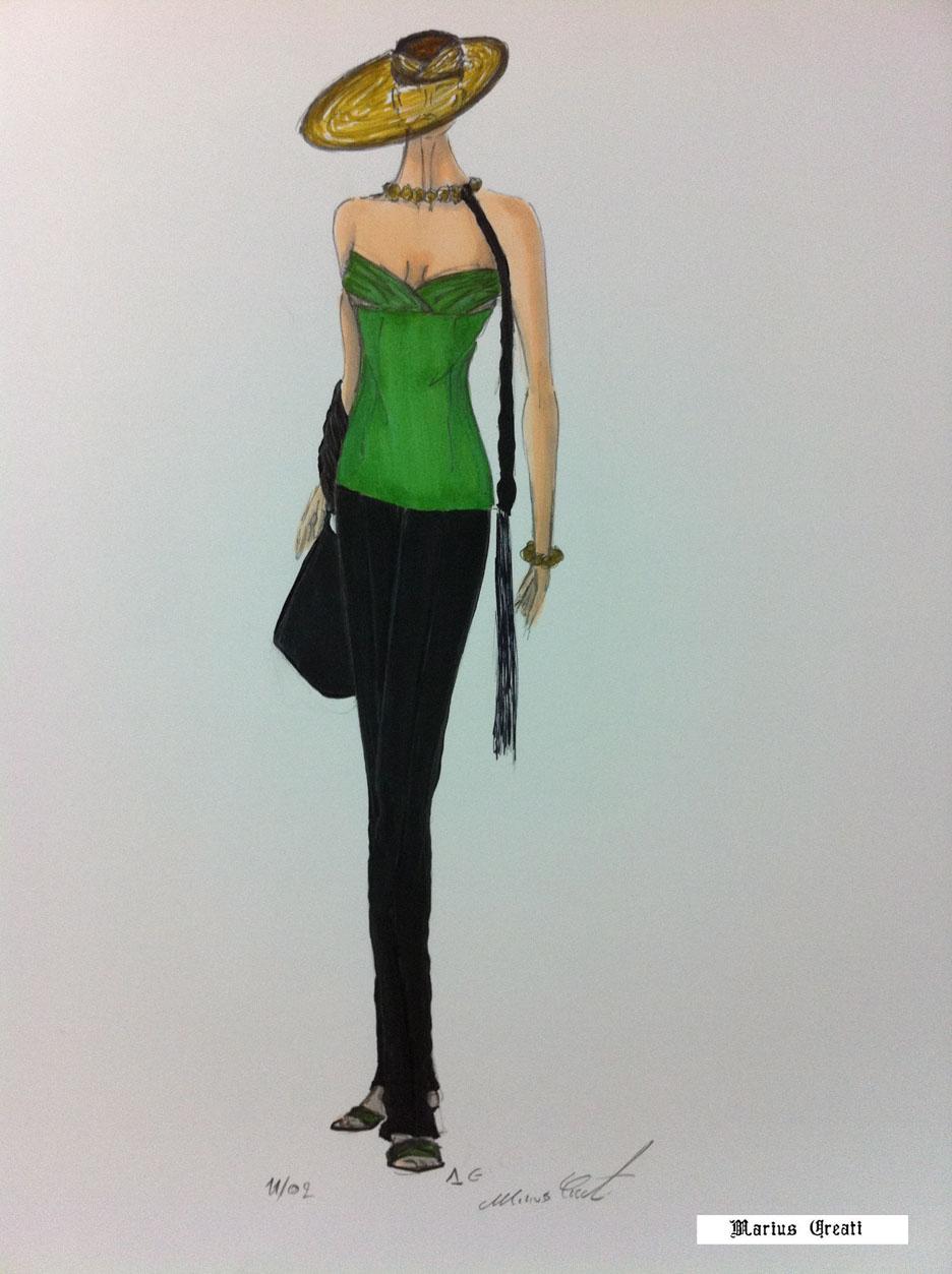Ben noto Fashion Couture e Seduzione, disegni di moda di Marius Creati  DU69